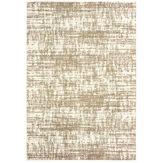 Strick & Bolton Bordes Ivory and Taupe Distressed Area Rug - 2' x 3'