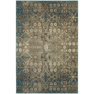 "Carbon Loft Burt Faded Traditional Beige/ Blue Area Rug - 1'10"" x 3'"