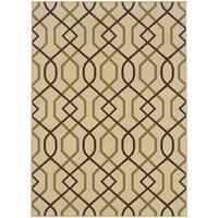 """Lattice Brown/Ivory Indoor-Outdoor Area Rug (1'9X3'9) - 1'9"""" x 3'9"""""""