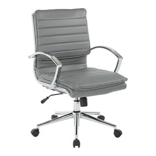Link to Mid Back Professional Managers Faux Leather Chair with Chrome Base and Removable Sleeves Similar Items in Office & Conference Room Chairs