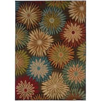 Clay Alder Home Variadero Brown/ Blue Transitional Area Rug - 1'10 x 3'3