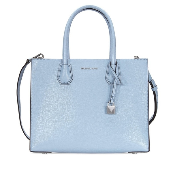 acef8d75e02b Shop Michael Kors Mercer Large Leather Pale Blue Tote - Free ...