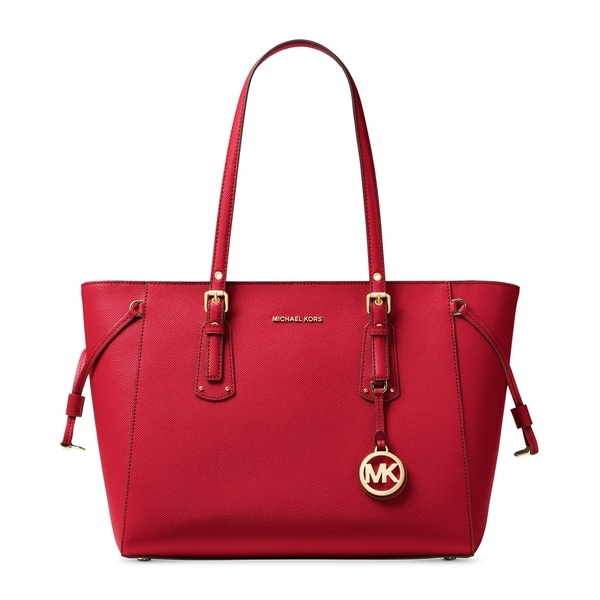 8dbb92111cca MICHAEL Michael Kors Voyager Medium Multifunction Top-Zip Tote Bright Red