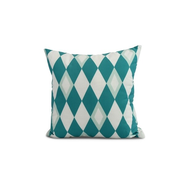 20 x 20 inch Harlequin Geometric Print Pillow