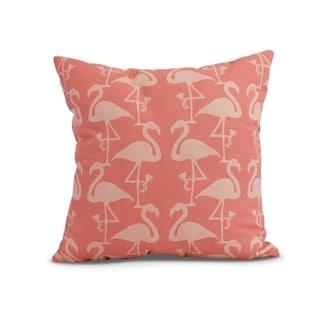 20 x 20 inch Flamingo Heart Martini Animal Print Pillow
