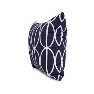 20 x 20 inch Ovals Go 'Round Geometric Print Pillow