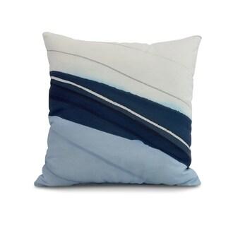 20 x 20 inch Boat Bow Wood Geometric Print Pillow
