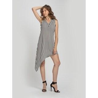 Bluberry Women's Ruth Black Stripe V neck Dress