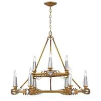 Golden Lighting's Signet 9 Light Chandelier #5717-9 RGD