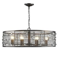 Golden Lighting Bijoux Brushed Etruscan Bronze Steel 8-light Chandelier