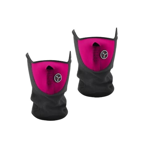 Sport Force Face and Neck Ski Mask-(Two Pack Pink)