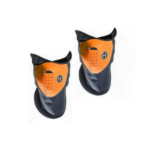 Sport Force Face and Neck Ski Mask-(Two Pack Orange)