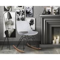 Crescent White Rocking Chair