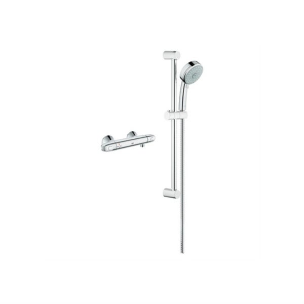Grohe Single Function Shower Kit 122629 StarLight Chrome - Free ...