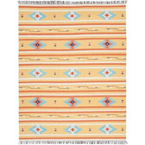 Nourison Baja Aztec Print Fringe Area Rug