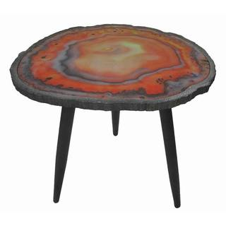 Jeco Cave Red Wood End Table
