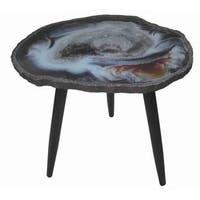 BLUE CAVE WOOD SIDE TABLE