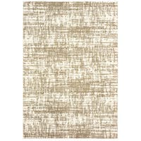 Oliver & James Bordes Ivory and Taupe Distressed Area Rug - 9'10 x 12'10