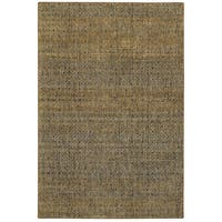 Oliver & James Palsa Golden Textural Area Rug - 10' x 13'2