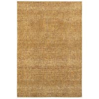 Carson Carrington Rauma Tonal Textured Gold/ Yellow Area Rug - 10' x 13'