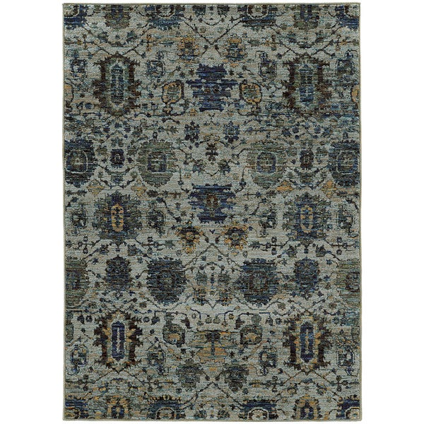 Traditional Ikat Blue Navy Rug 10 X 13 2