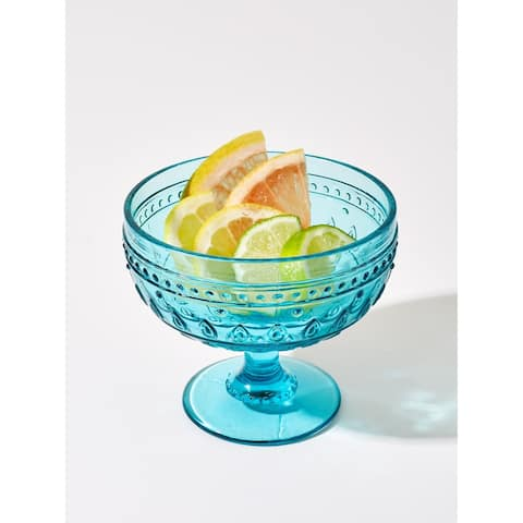 Euro Ceramica Fez 13-Ounce Martini/Dessert Footed Bowl (Set of 4)