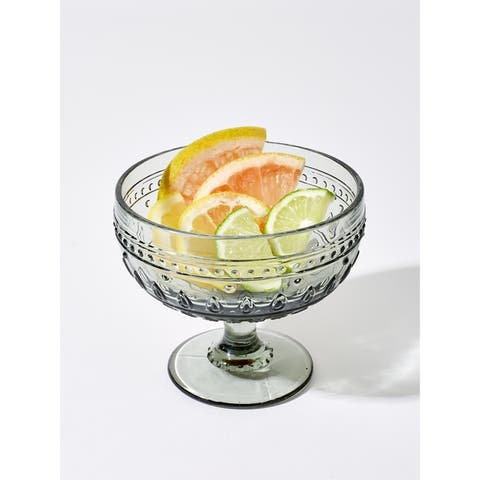 Euro Ceramica Fez 13-Ounce Footed Compote Glasses (Set of 4)