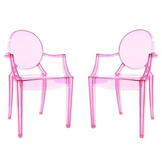 Poly and Bark Burton Arm Chair In Pink (Set of 2)