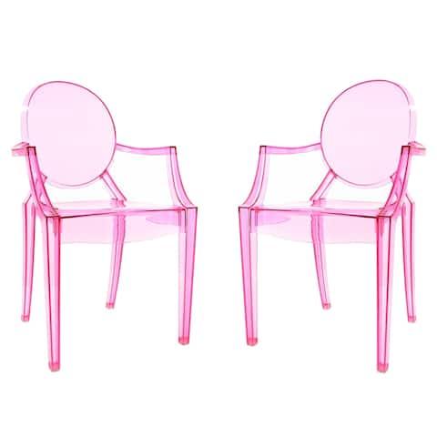 Edgemod Burton Arm Chair In Pink (Set of 2)