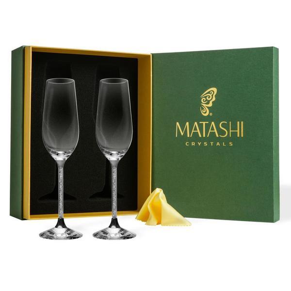 477f0510f2d5 Shop Matashi Set of 2 Luxurious 8 oz. Crystal Champagne Toasting ...