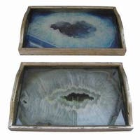 Accent Wood Trays (Set of 2)