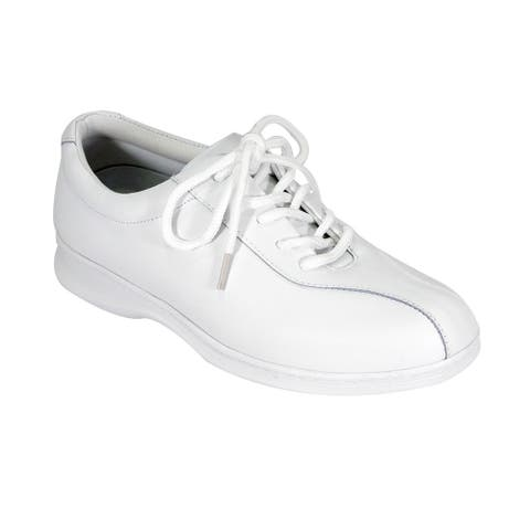 24 HOUR COMFORT Alana Women Wide Width Oxford Lace Up Comfort Shoes