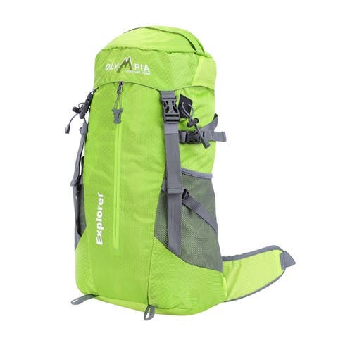 "Olympia USA Explorer 20"" Polyester Outdoor Daypack 22L - Lime"