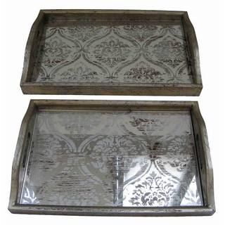 Mirror Wood Tray (Set of 2)