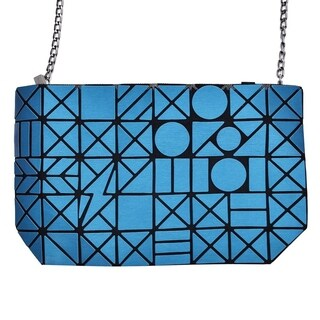 Draizee Geometric Design Metal Chain Crossbody Handbag