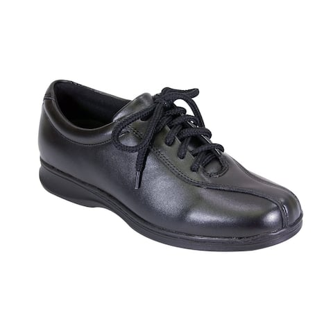 24 HOUR COMFORT Valerie Women Extra Wide Width Oxford Lace Up Shoes by  Fresh