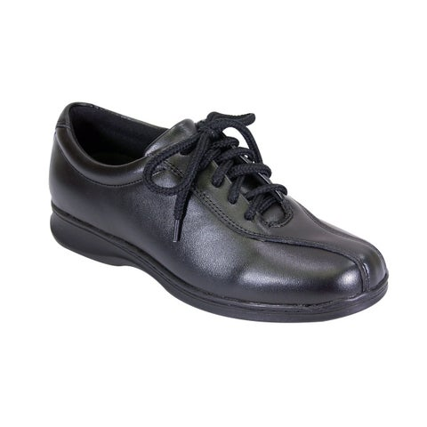 24 HOUR COMFORT Valerie Women Extra Wide Width Oxford Lace Up Shoes
