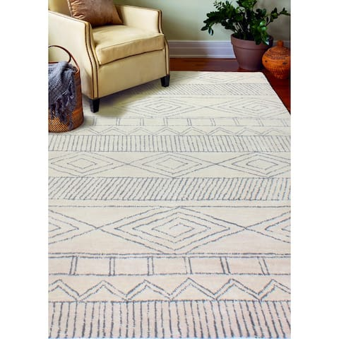 Ramsey Transitional Hand Tufted Area Rug