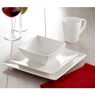 Roscher 32-Piece Pure Square Dinnerware Set  sc 1 st  Overstock : cheap square dinnerware sets - pezcame.com