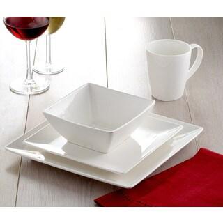 Roscher 32-Piece Pure Square Dinnerware Set  sc 1 st  Overstock.com & Dinnerware For Less | Overstock