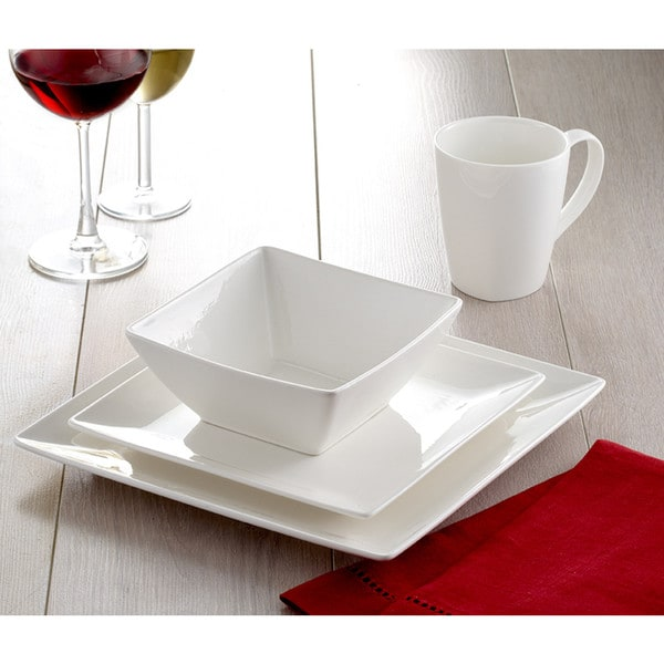 Roscher 32-Piece Pure Square Dinnerware Set  sc 1 st  Overstock.com & Roscher 32-Piece Pure Square Dinnerware Set - Free Shipping Today ...