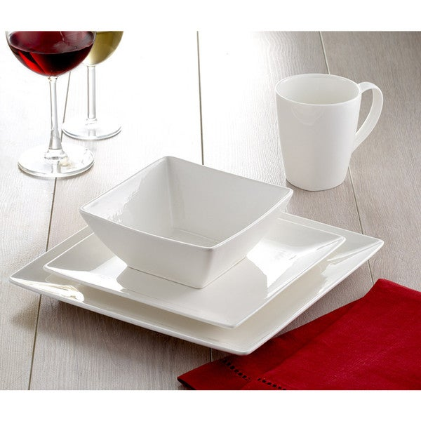 Roscher 32-Piece Pure Square Dinnerware Set