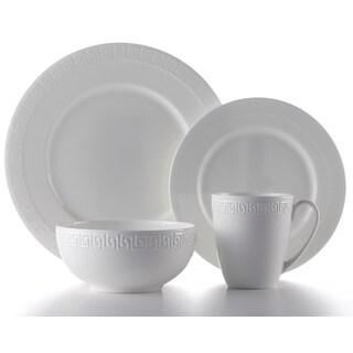 Roscher 32-Piece Corfu China Classic Round Rim Dinnerware Set