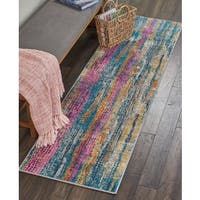 Nourison Passion Grey Multi Runner Rug (2'2 X 7'6) - 2'2 x 7'6
