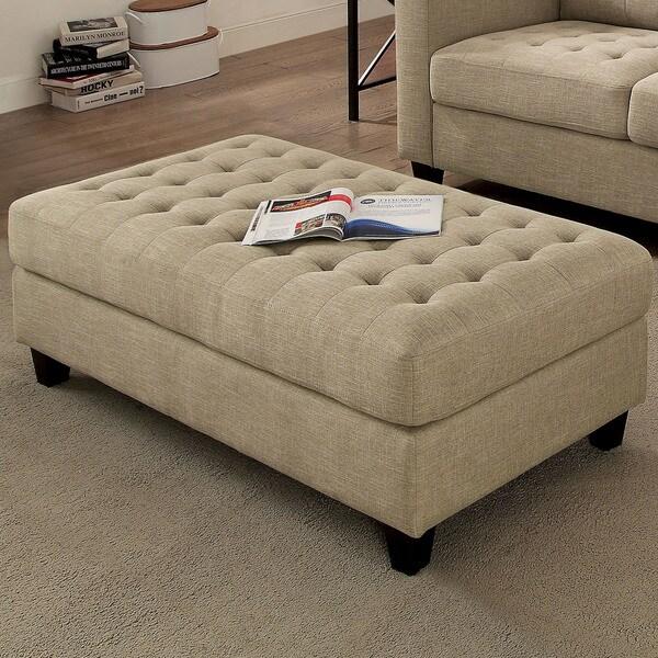 Shop Furniture Of America Dals Transitional Beige Linen