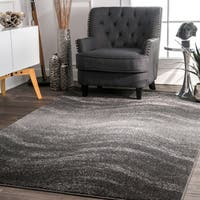 nuLOOM Contemporary Ombre Waves Grey Rug (6'7 x 9')