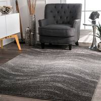 nuLOOM Contemporary Ombre Waves Grey Rug (6'7 x 9')