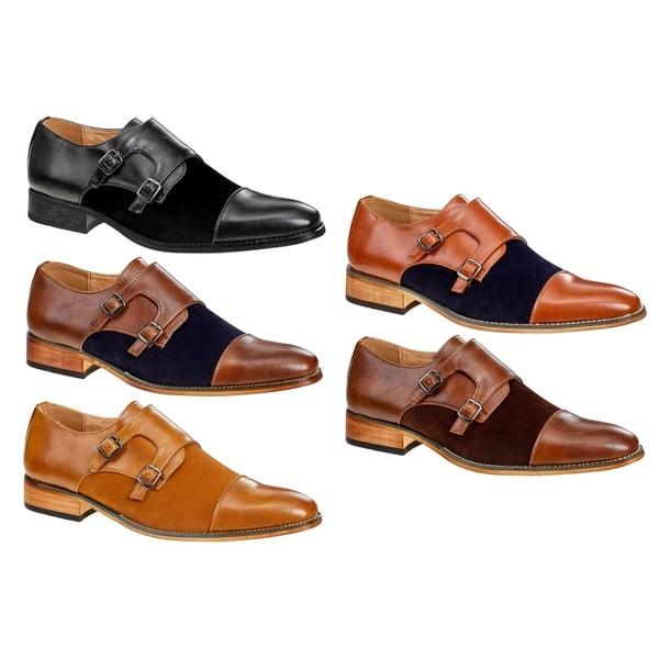 f31e6fe9ab Shop UV Signature Men's Monk Strap Cap Toe Dress Shoes - On Sale ...