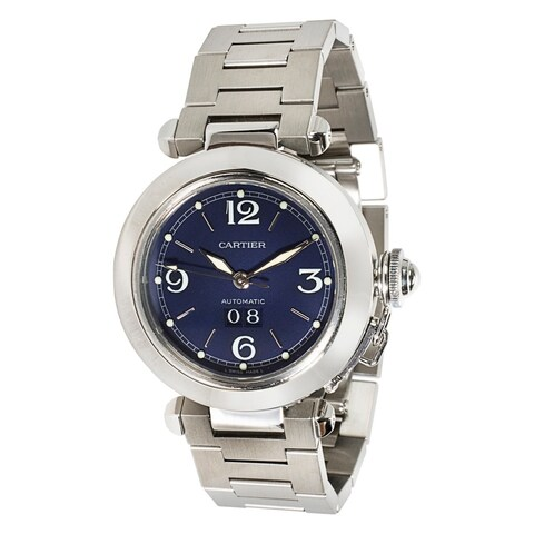 Pre-Owned Cartier Pasha Unisex Watch W31047M7 in Stainless Steel Automatic Movement