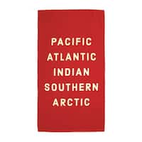 Pacific, Atlantic Oversized Terrycloth Beach Towel - 66 x 38 inch